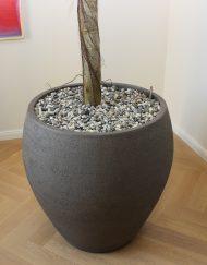 ronde plantenpot handgemaakt aardewerk