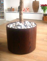 Plantenbak hout fineer cilindervormig