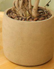 aardewerk plantenpot cilindervormig bol D70